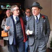 Stan & Ollie stars Steve Coogan & John C Reilly seen leaving The Westbury Hotel, Dublin, Ireland - 11.01.19. Pictures: Cathal Burke / VIPIRELAND.COM **IRISH RIGHTS ONLY**