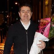 Minister for Finance Paschal Donohoe spotted carrying bouquet of flowers at Government Buildings, Dublin, Ireland - 11.01.19. Pictures: Cathal Burke / VIPIRELAND.COM **IRISH RIGHTS ONLY**