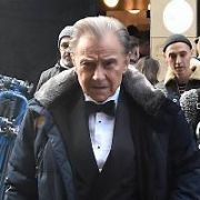 Harvey Keitel is back in his Pulp Fiction character Winston Wolfe as he shoots another commercial for Direct Line on Clarendon Street, Dublin, Ireland - 18.01.19. Pictures: Cathal Burke / VIPIRELAND.COM **IRISH RIGHTS ONLY**