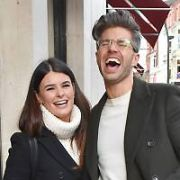 One day after getting eliminated from Dancing With The Stars, Karen Byrne & Darren Kennedy spotted on Grafton Street together, Dublin, Ireland - 04.02.19. Pictures: Cathal Burke / VIPIRELAND.COM **IRISH RIGHTS ONLY**