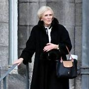 Mary Berry seen leaving Trinity College after talking to The Philosophical Society, Dublin, Ireland - 07.02.19. Pictures: Cathal Burke / VIPIRELAND.COM **IRISH RIGHTS ONLY**