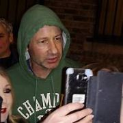 David Duchovny poses with fans after performing at The Academy, Dublin, Ireland - 20.02.19. Pictures: Cathal Burke / VIPIRELAND.COM **IRISH RIGHTS ONLY**