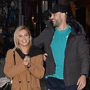 Irish Rugby player Conor Murray & model girlfriend Joanna Cooper spotted at The Shelbourne hotel ahead of Ireland's 6 Nations clash with France, Dublin, Ireland - 09.03.19. Pictures: Cathal Burke / VIPIRELAND.COM **IRISH RIGHTS ONLY**
