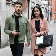 Country singer Lisa McHugh, who was once romantically linked to Nathan Carter, spotted holding hands with a mystery man on Coppinger Row, Dublin, Ireland - 21.03.19. Pictures: Cathal Burke  / VIPIRELAND.COM **IRISH RIGHTS ONLY**