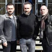 The Cranberries record an interview with Dave Fanning at RTE Radio Studios talking about their last & upcoming album with late singer Dolores O'Riordan called 'In The End', RTE, Dublin, Ireland - 25.03.19. Pictures: Cathal Burke / VIPIRELAND.COM **IRISH RIGHTS ONLY**