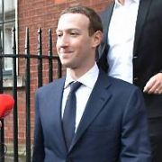 Facebook founder Mark Zuckerberg at The Merrion Hotel to meet with Irish TDs Hildegarde Naughton, Eamon Ryan & James Lawless to discuss policy matters, Dublin, Ireland - 02.04.19. Pictures: Cathal Burke / VIPIRELAND.COM **IRISH RIGHTS ONLY**