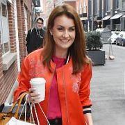 Mairead Ronan (Mairead Farrell) & Glenda Gilson spotted walking on Clarendon Street, Dublin, Ireland - 09.04.19. Pictures: Cathal Burke / VIPIRELAND.COM **IRISH RIGHTS ONLY**