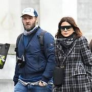 Hollywood actor Joel Edgerton and Vogue editor girlfriend Christine Centenera seen leaving The Merrion Hotel and visiting the Book of Kells in Trinity College, Dublin, Ireland - 16.04.19. Pictures: Cathal Burke / VIPIRELAND.COM **IRISH RIGHTS ONLY**