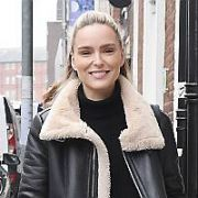 Model Sarah Morrissey seen walking on Ely Place, Dublin, Ireland - 16.04.19. Pictures: Cathal Burke / VIPIRELAND.COM **IRISH RIGHTS ONLY**
