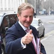 Gerald Kean & Enda Kenny spotted in the vacinity of The Merrion Hotel, Dublin, Ireland - 17.04.19. Pictures: Cathal Burke / VIPIRELAND.COM **IRISH RIGHTS ONLY**