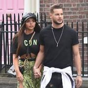 Little Mix's Jesy Nelson & Love Island's Chris Hughes spotted holding hands at The Merrion Hotel, Dublin, Ireland - 20.04.19. Pictures: Cathal Burke / VIPIRELAND.COM **IRISH RIGHTS ONLY**