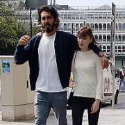 English actor Dev Patel (28) & Australian girlfriend Tilda Cobham Hervey (24) spotted arm-in-arm on St Stephen's Green, Dublin, Ireland - 23.04.19. Pictures: Cathal Burke / VIPIRELAND.COM **IRISH RIGHTS ONLY**
