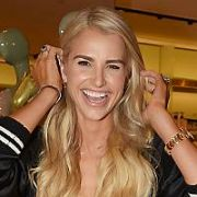 With a new head of blonde locks Vogue Williams arrives to DJ at Dive in SS Swimwear Event at Brown Thomas, Dublin, Ireland - 25.04.19. Pictures: Cathal Burke / VIPIRELAND.COM **IRISH RIGHTS ONLY**