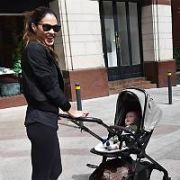Glenda Gilson spotted with her new baby son Bobby at The Westbury Hotel, Dublin, Ireland - 01.05.19. Pictures: Cathal Burke / VIPIRELAND.COM **IRISH RIGHTS ONLY**