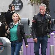 Singer Paul Young seen holding hands with a mystery blonde woman on Dame Street, Dublin, Ireland - 22.05.19. Pictures: VIPIRELAND.COM **IRISH RIGHTS ONLY**