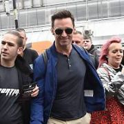 Hugh Jackman is mobbed by fans at Dublin Airport, Dublin, Ireland - 29.05.19. Pictures: VIPIRELAND.COM **IRISH RIGHTS ONLY**
