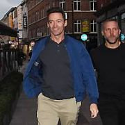 Hugh Jackman stops by Bruxelles Bar on Grafton Street for a pint of Guinness, Dublin, Ireland - 29.05.19. Pictures: VIPIRELAND.COM **IRISH RIGHTS ONLY**