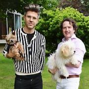 Celebrities & their dogs: Darren Kennedy & Harry, Mary Byrne (dog was Ben was too nervous), Diarmuid Gavin & Bowie, at The Ray Darcy Radio Show on Dog Friendly Day, Dublin, Ireland - 21.06.19. Pictures: VIPIRELAND.COM **IRISH RIGHTS ONLY**