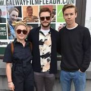 Jack Reynor's costars in Midsommar Florence Pugh & Will Poulter join him at Galway Film Fleadh 2019 for the Premiere of a short movie he directed called Bainne. Comedian Will Forte was also giving a Masterclass at the festival, Galway, Ireland - 13.07.19. Pictures: VIPIRELAND.COM **IRISH RIGHTS ONLY**
