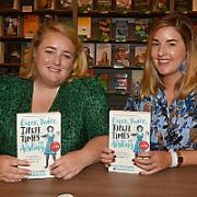 Emer McLysaght & Sarah Breen at an Easons signing for Once, Twice, Three Times an Aisling, Dublin, Ireland - 12.09.19. Pictures: VIPIRELAND.COM **IRISH RIGHTS ONLY**