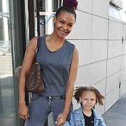 Samantha Mumba & daughter Sage Scales at Bord Gais Energy Theatre where Sam is starring as Teen Angel in Grease The Musical, Dublin, Ireland - 17.09.19. Pictures: VIPIRELAND.COM **IRISH RIGHTS ONLY**