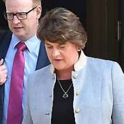 Northern Ireland Politician Arlene Foster leaving The Merrion Hotel, Dublin, Ireland - 18.09.19. Pictures: VIPIRELAND.COM **IRISH RIGHTS ONLY**