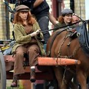 Catherine Tate films scenes from her feature film This Nan's Life with Katherine Parkinson in Dublin's Arbour Hill, Dublin, Ireland - 24.09.19. Pictures: VIPIRELAND.COM **IRISH RIGHTS ONLY**