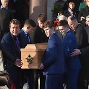 Mourners assembled at the Church of St. Paul of the Cross in Dublin's Mount Argus to pay their final respects to Irish  comedian and actor Niall Toibin, Dublin, Ireland - 18.11.19. Pictures: VIPIRELAND.COM **IRISH RIGHTS ONLY**