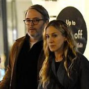 Hollywood couple Matthew Broderick & Sarah Jessica Parker spotted out amongst the Christmas shoppers in Dublin City Centre stopping into Sheridans Cheesemongers on South Anne Street, Dublin, Ireland - 23.11.19. Pictures: VIPIRELAND.COM **IRISH RIGHTS ONLY**