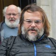 Tenacious D members Jack Black & Kyle Gass seen leaving The Merrion Hotel ahead of their gig in 3Arena tonight, Dublin, Ireland - 10.02.20. Pictures: VIPIRELAND.COM **IRISH RIGHTS ONLY**