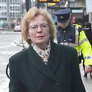 Former President of Ireland Mary Robinson spotted walking on St Stephens Green, Dublin, Ireland - 11.02.20. Pictures: VIPIRELAND.COM **IRISH RIGHTS ONLY**