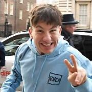 Barry Keoghan leaves then returns to The Merrion Hotel after getting a hair cut before attending the premiere of his movie Calm With Horses at the Dublin International Film Festival 2020, Dublin, Ireland - 05.03.20. Pictures: VIPIRELAND.COM **IRISH RIGHTS ONLY**
