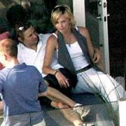 Soon-to-be-Wed Oscar winning actress Charlize Theron celebrated her 30th birthday (DOB: 07.08.1975) with a relaxed party at her & Irish fiancee Stewart Townsend's plush Malibu beach house with some friends, California, USA. 06.08.05.
