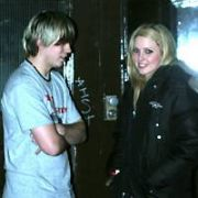 Son of Dork singer James Bourne leaves Lillies Bordello by the back door with George McMahon's (Fair City's Mondo) girlfriend Linzi Cowap after the Childline afterparty at Lillies Bordello, Dublin, Ireland - 30.01.06. Mondo & Linzi were back togther at The Meteors a few days later but not looking to happy...